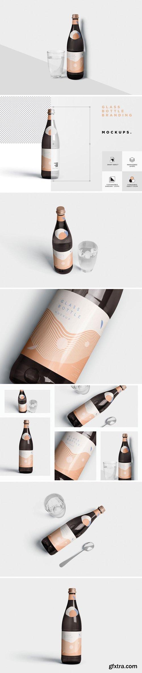 Glass Bottle Branding Mockups