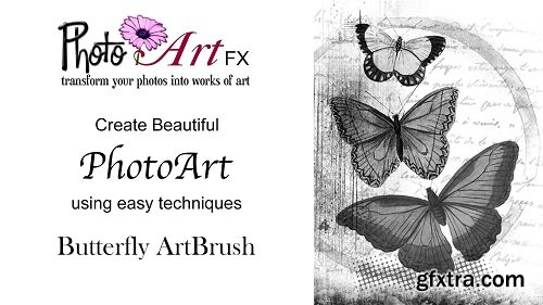 PhotoArtFX using Photoshop: Butterfly ArtBrush