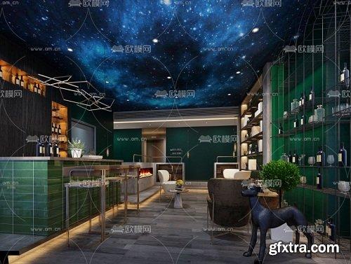 Bar Interior 3D model V1_03