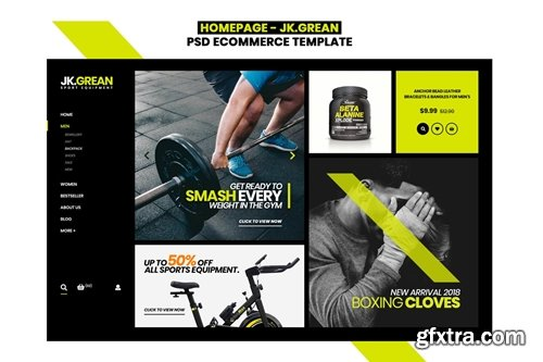 JK.Grean Homepage - Ecommerce PSD Template
