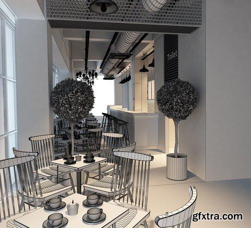 Cgtrader - 3D Model modern restaurant 3D model