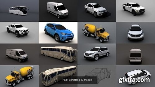 Cgtrader - Pack Vehicles 3D Model Collection