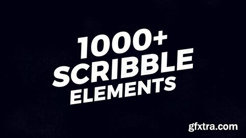 Videohive - 1000 Scribble Elements - V2 - 21777834