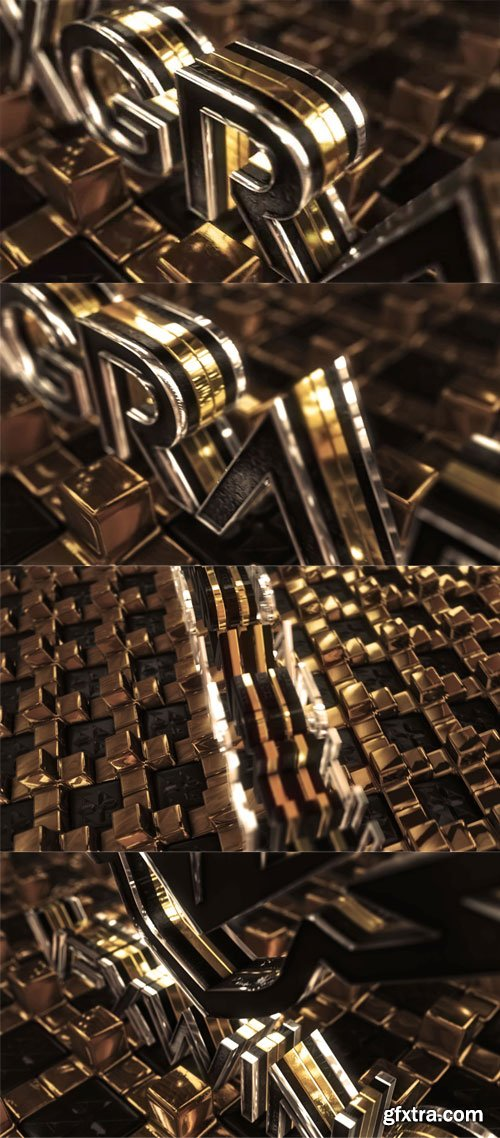 Videohive - Gold Cross Logo - 22099229