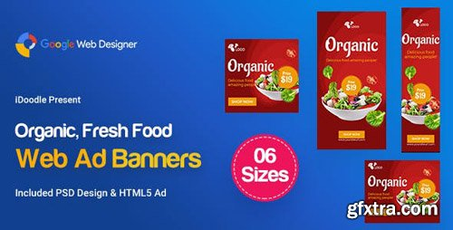 CodeCanyon - C52 - Organic, Fresh Food Banners GWD & PSD - 23899065