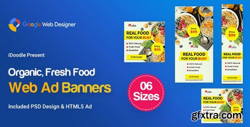 CodeCanyon - C53 - Organic, Fresh Food Banners GWD & PSD - 23899073