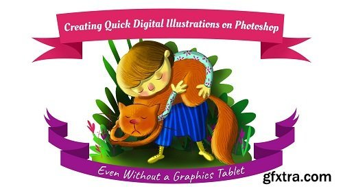 Creating Quick Digital Illustrations on Photoshop (Even Without a Graphics Tablet)