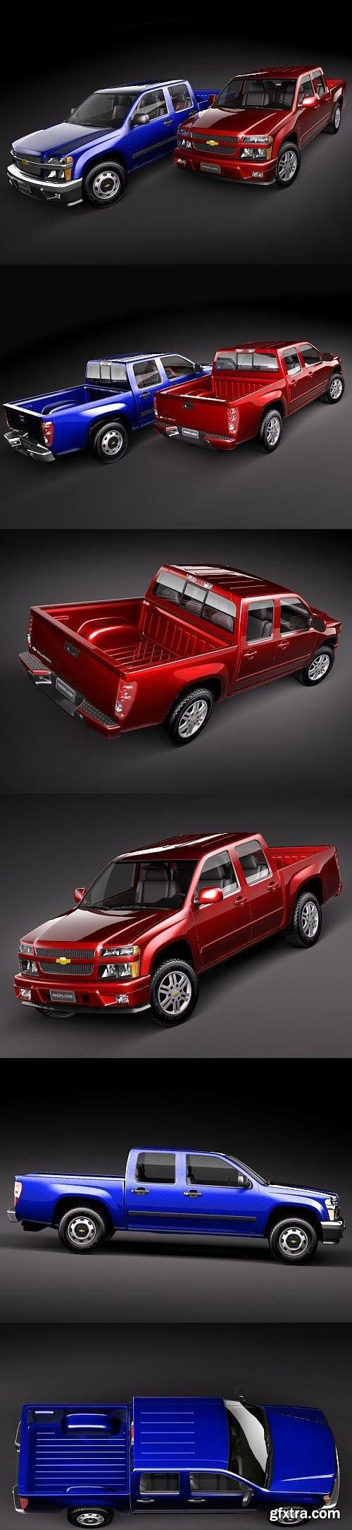 Chevrolet Colorado crew cab 3D Model