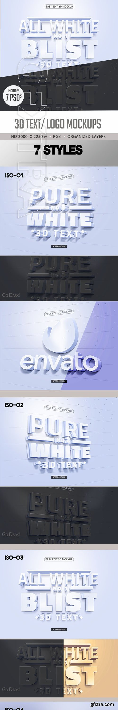 GraphicRiver - Pure White 3D Text Logo Mock up 23888803