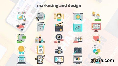 Marketing And Design – Flat Animation Icons 206726