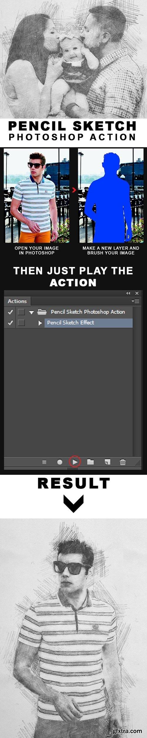 GraphicRiver - Pencil Sketch Photoshop Action 21718327