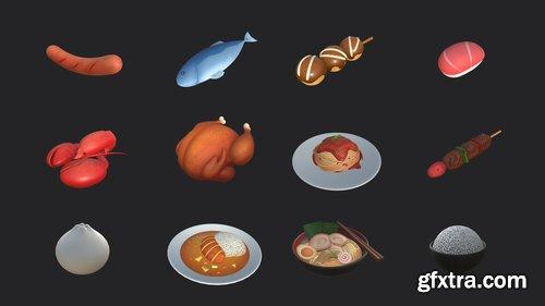 Cgtrader - Cartoon Food Pack 2 3D model