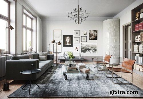 Cgtrader - Stockholm Interior scene 3D model