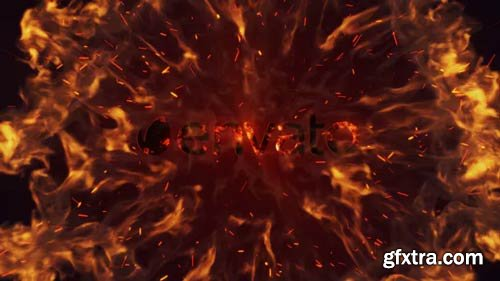 Videohive - Intense Fire Burn Logo Reveal - 14342086