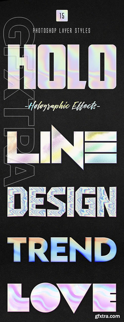 GraphicRiver - Holographic Photoshop Layer Styles 23864789