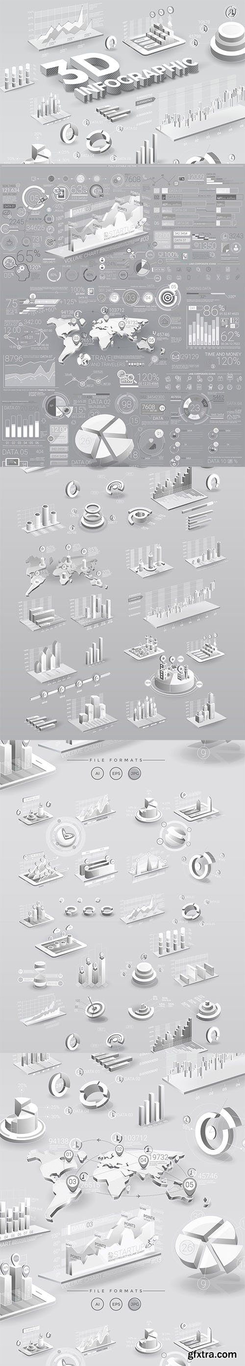 White Infographic Elements