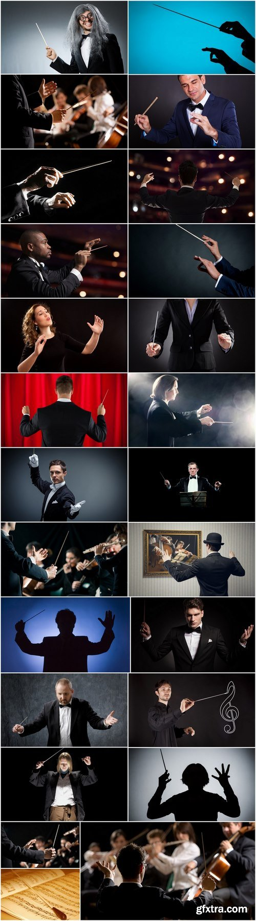 Conductor symphonic orchestra of opera house theater of 25 HQ Jpeg