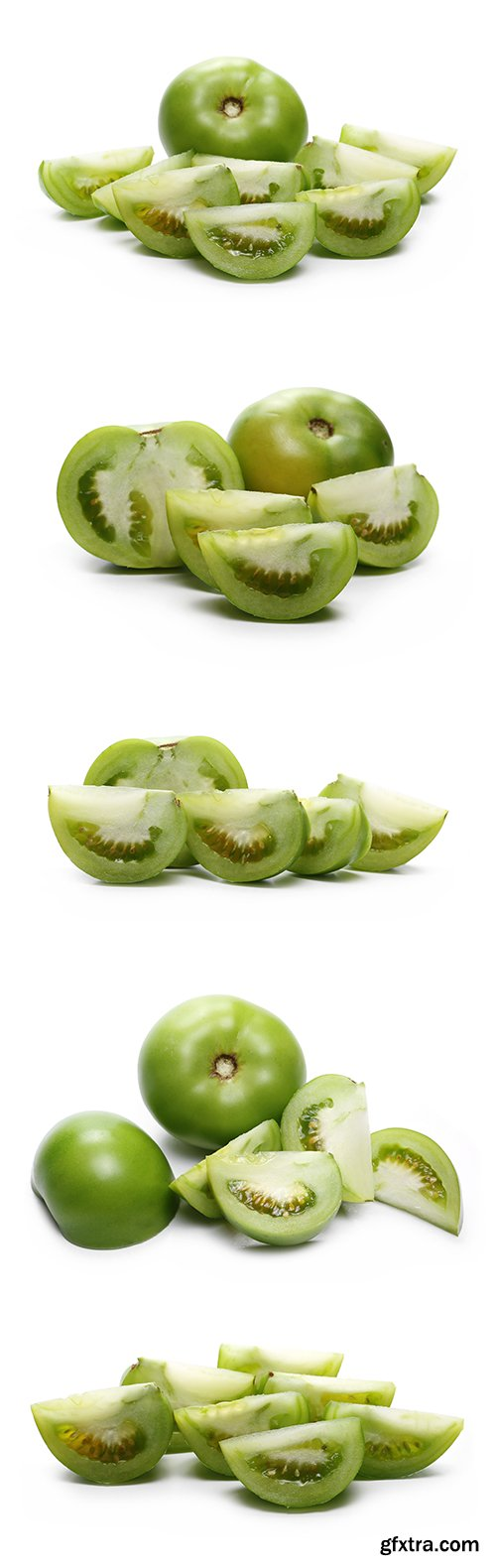 Green Tomato Slices Isolated - 10xJPGs