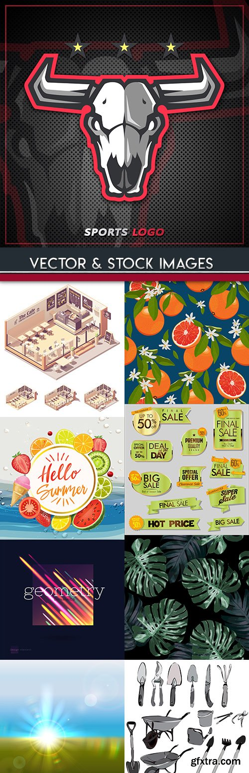 Big collection on different subject vector illustrations 16