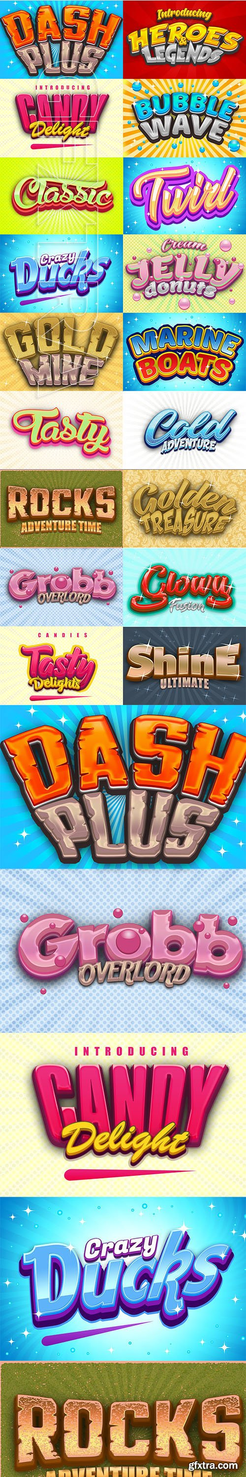 CreativeMarket - Game Logo Text Effect Styles Bundle 3741328