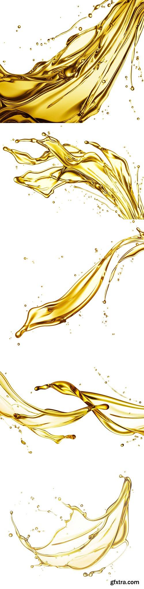 Oil Splash Isolated - 11xJPGs