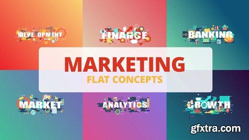 Marketing - Word Flat Concept 221177