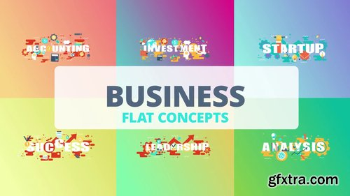 Business - Word Flat Concept 221173