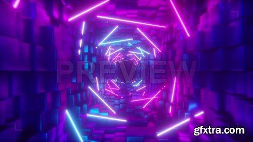 Bricks And Neon Corridor 244684