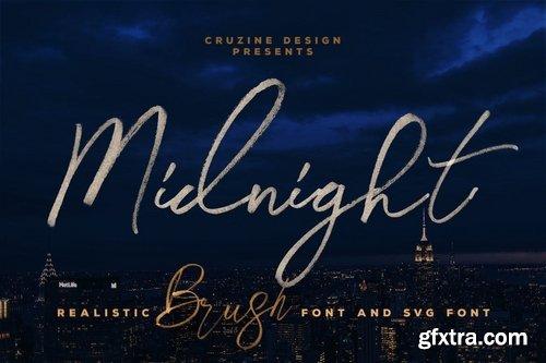 CM - Midnight Brush & SVG Font 3776999
