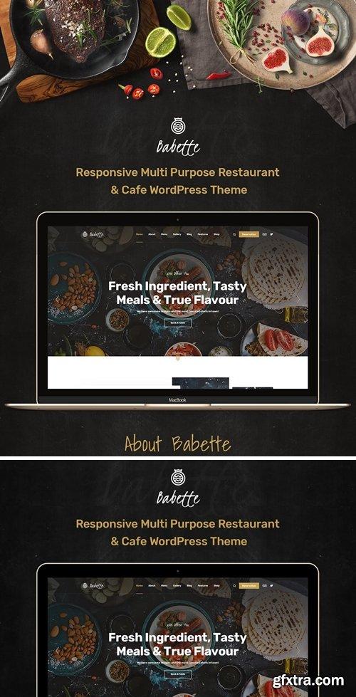 Babette - Restaurant & Cafe PSD Template