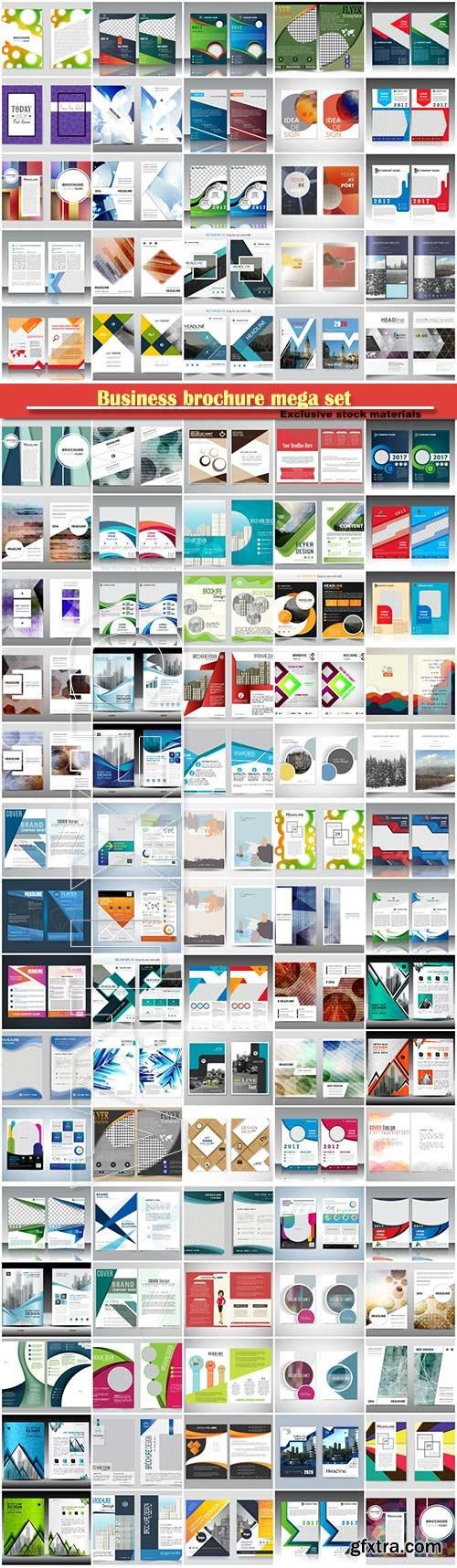 Business brochure mega set, vector flyers template