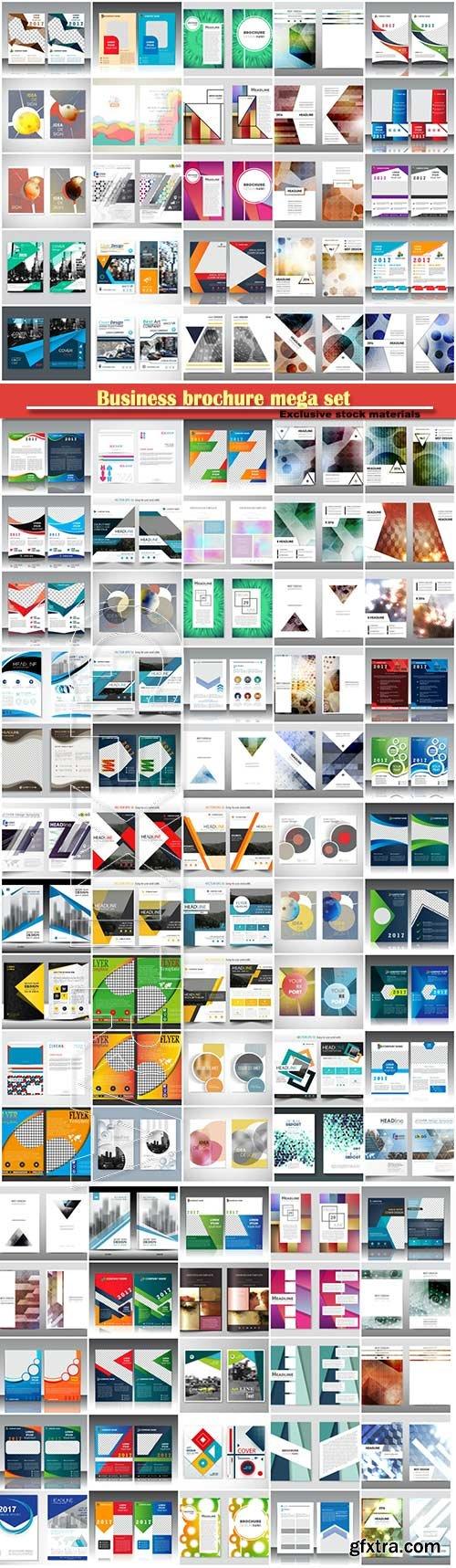 Business brochure mega set, vector flyers template # 2