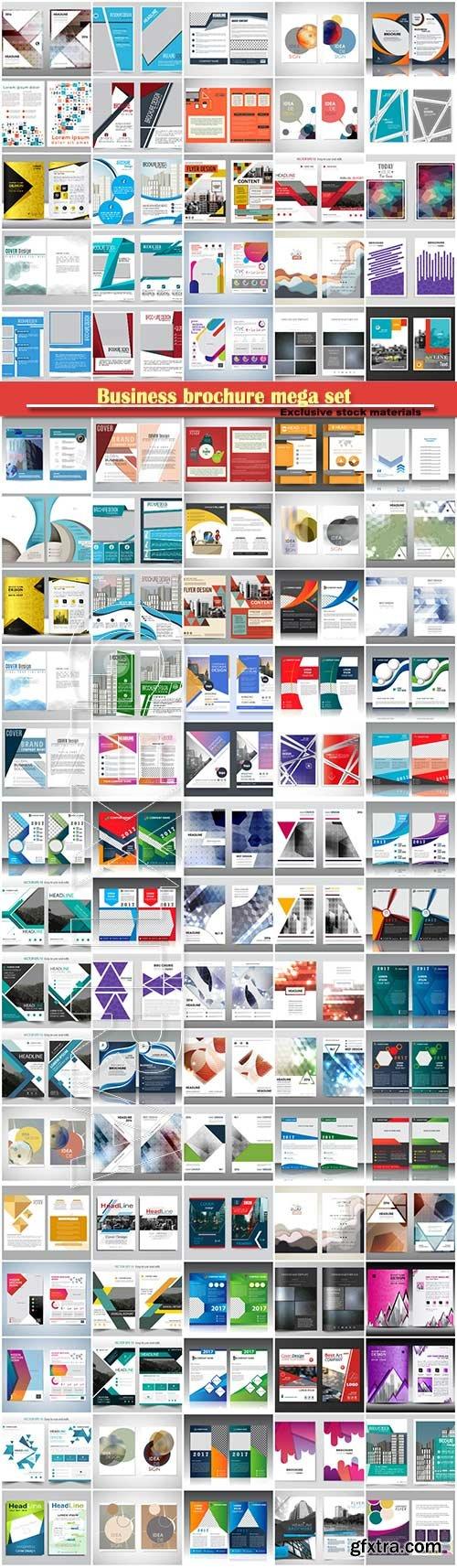 Business brochure mega set, vector flyers template # 3