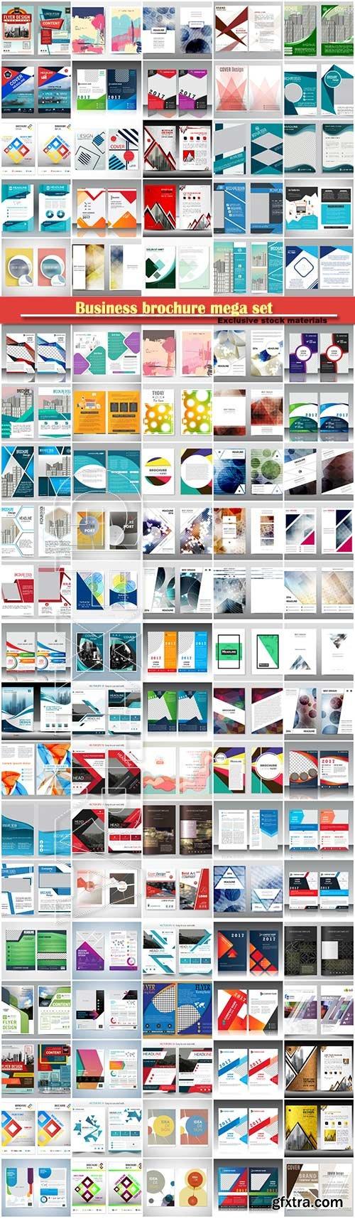 Business brochure mega set, vector flyers template # 4