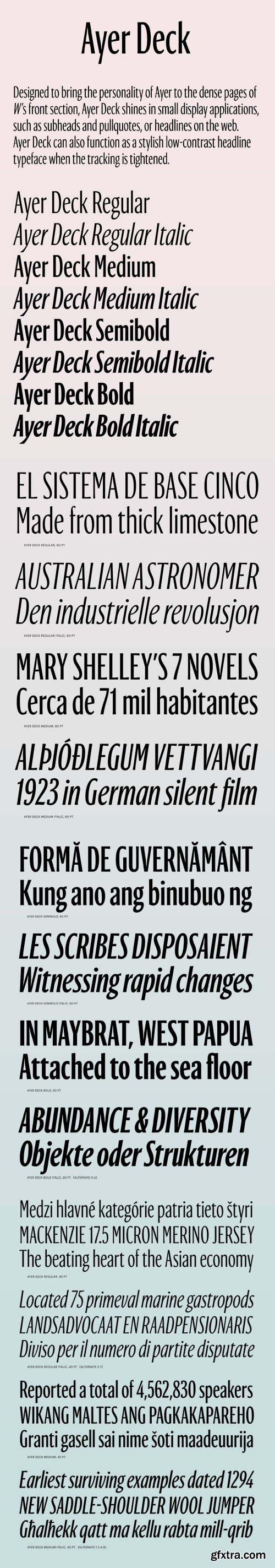 Ayer Deck Font Family
