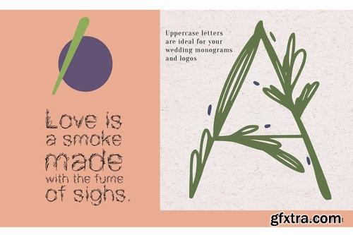 CM - Garden floral romantic font 3847887