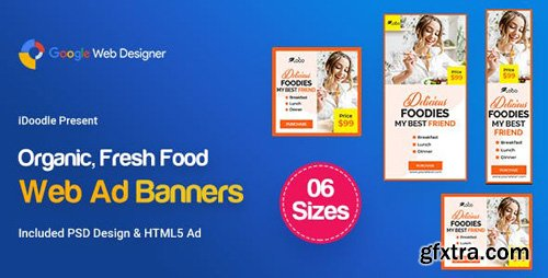 CodeCanyon - C54 - Organic, Fresh Food Banners GWD & PSD - 23909297
