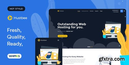 ThemeForest - Hustbee - Hosting HTML WHMCS Template (Update: 10 March 19) - 22259226