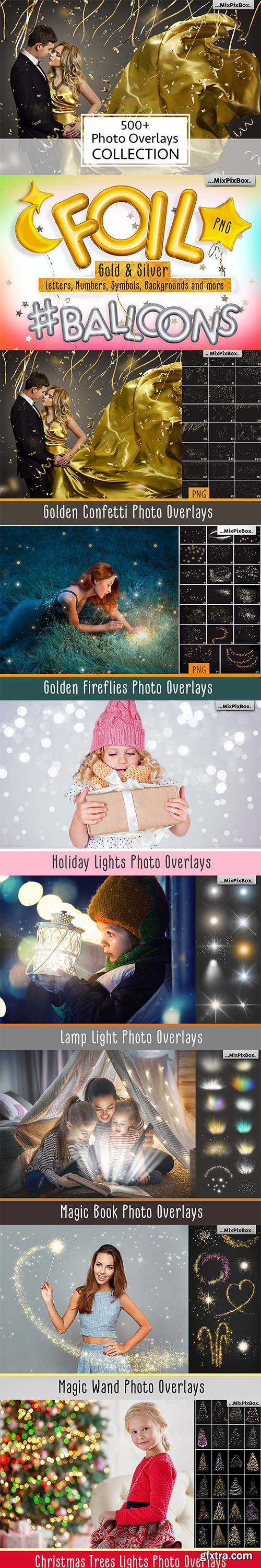 500+ Magical Photo Overlays & Backdrops, Water Splash, Smoke Bomb, Confetti, Magic Wands + more!