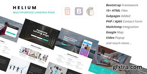 ThemeForest - Helium - 10 in 1 Landing Pages Package (Update: 2 May 16) - 15694845