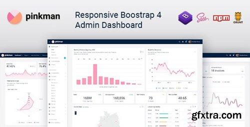 ThemeForest - Pinkman v1.0 - Bootstrap 4 Admin Dashboard Template & UI Kit - 23914006