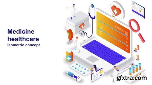 Medicine Healthcare - Isometric Concept 208607