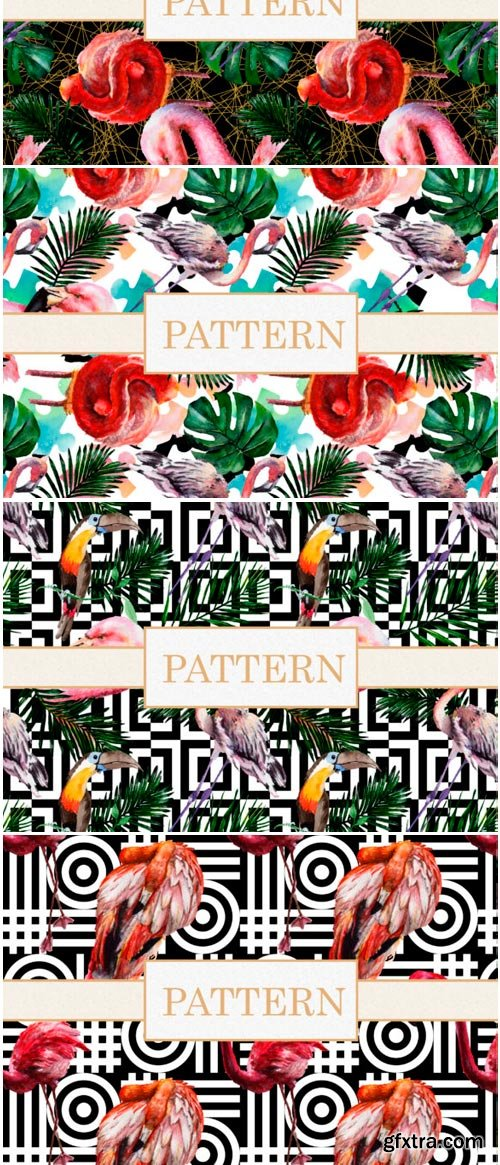 Colorful Watercolor Patterns Png 1485300
