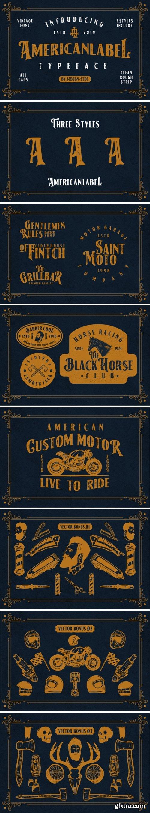 American Label Font
