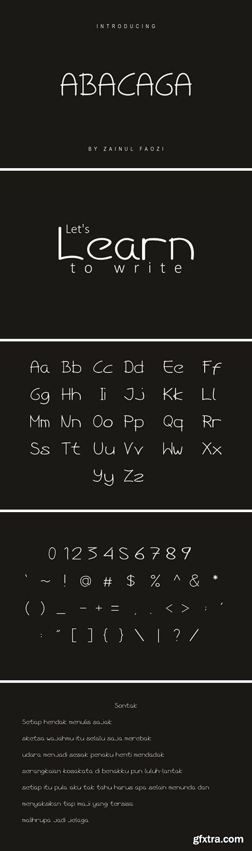 Abacaga Font