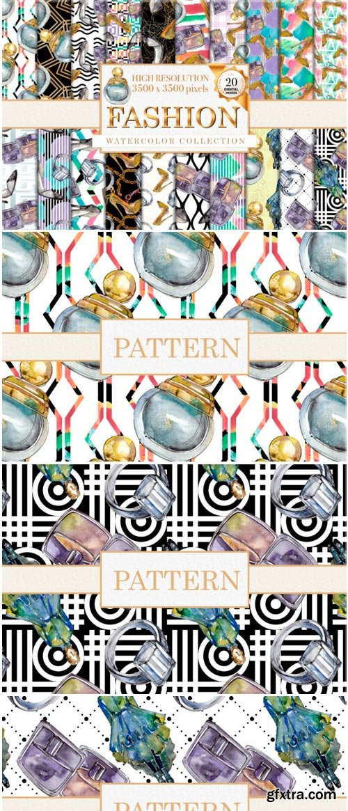 Fashion Patterns Watercolor Png 1485304