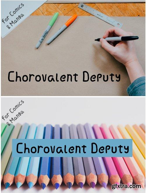 Chorovalent Deputy Font