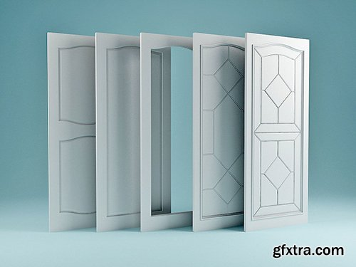 Cgtrader - Collection of Doors 3D model