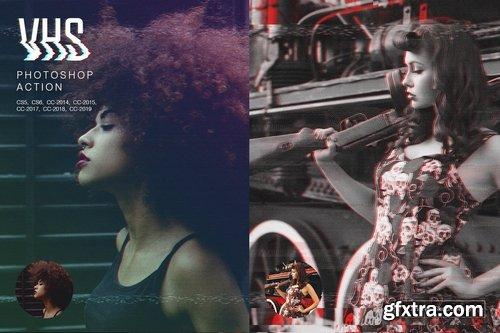 GraphicRiver - VHS Photoshop Action 23348871