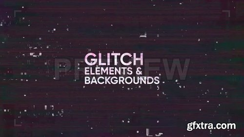 Glitch Elements & Backgrounds 247004